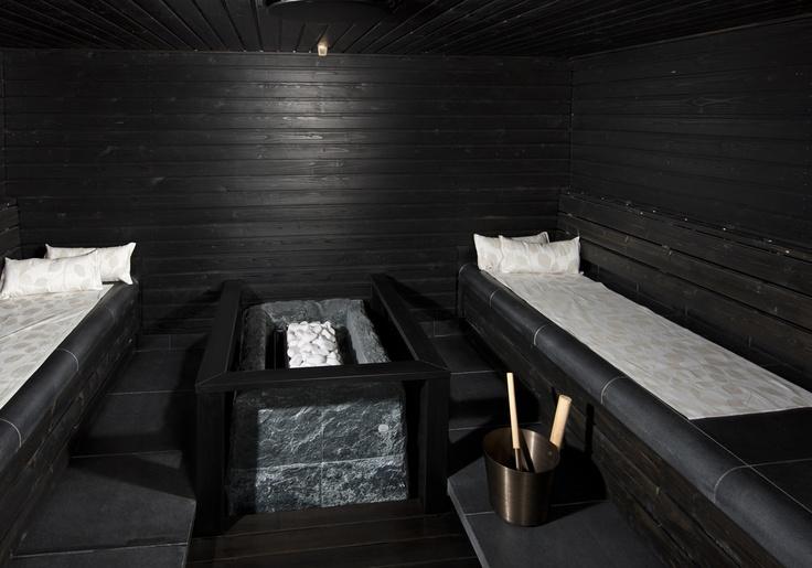 Soapstone sauna heater at Koli Relax Spa