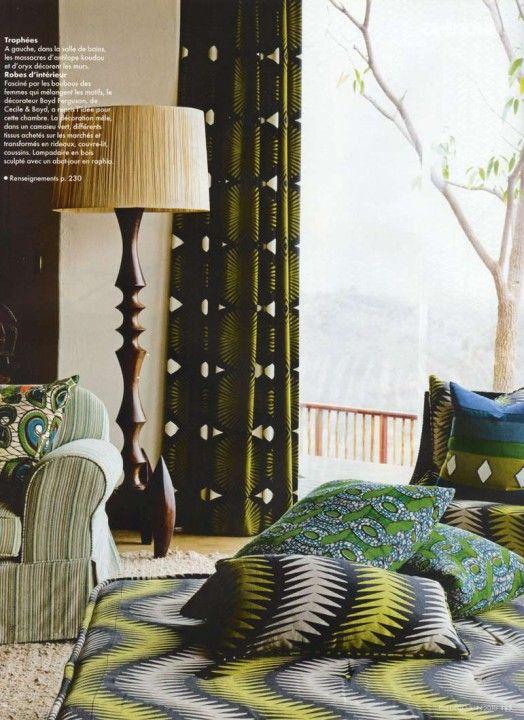 African batik cloth interior accents the ldoge of sngita for Interior decoration in zimbabwe