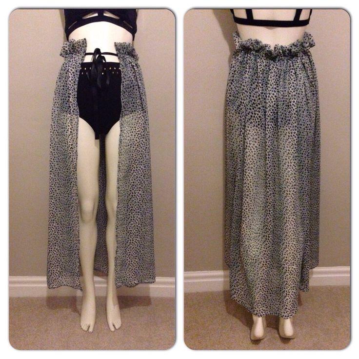 Black and Grey Leopard Print Bikini Cover Up Skirt by delicatedollheadband on Etsy https://www.etsy.com/listing/233638243/black-and-grey-leopard-print-bikini