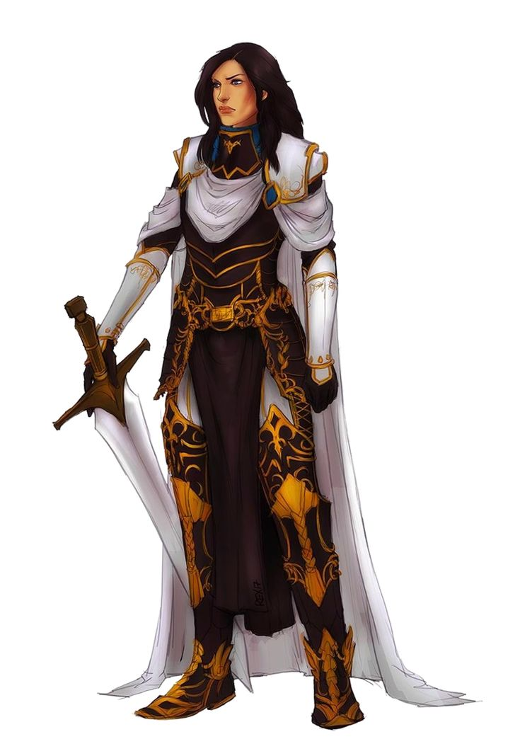 Female Human Paladin Knight Fighter - Pathfinder PFRPG DND D&D 3.5 5E 5th … | Female knight ...