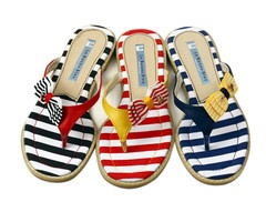 Cute Flip-Flops with Bow Detail.