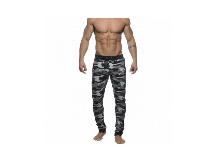 Pánské tepláky ES Collection MILITARY SWEAT PANT - kaki šedé