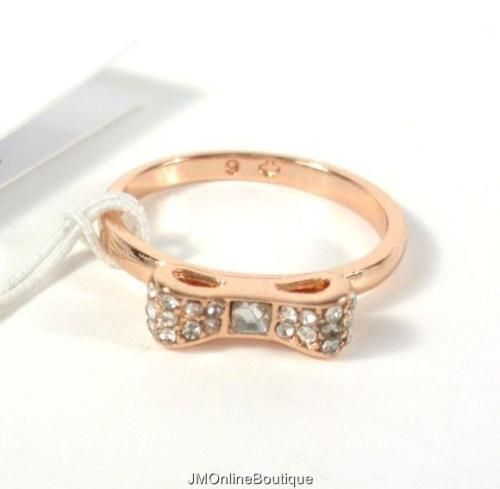 Kate-Spade-O0RU1564-034-Ready-Set-Bow-034-Rose-Gold-tone-Ring-Size-6-NEW