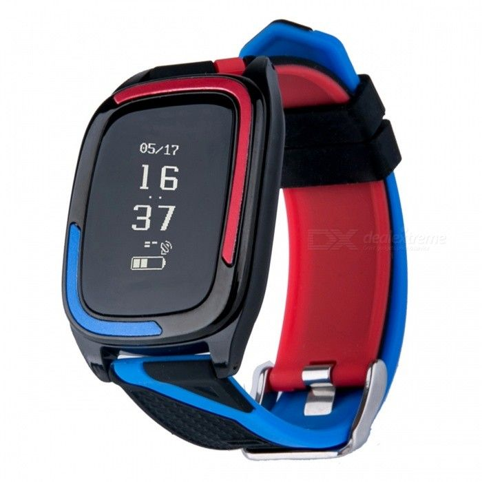 DMDG Sport Blood Pressure Heart Rate Monitor Smart Bracelet - Blue - Free Shipping - DealExtreme