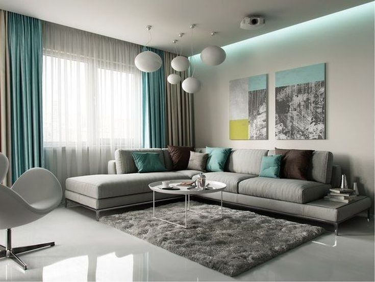 Wtsenates Enchanting Grey Turquoise Living Room In Collection 6119