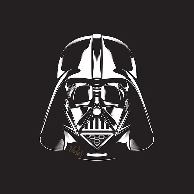 Darth vader vector black and white t shirt concepts for Darth vader black and white