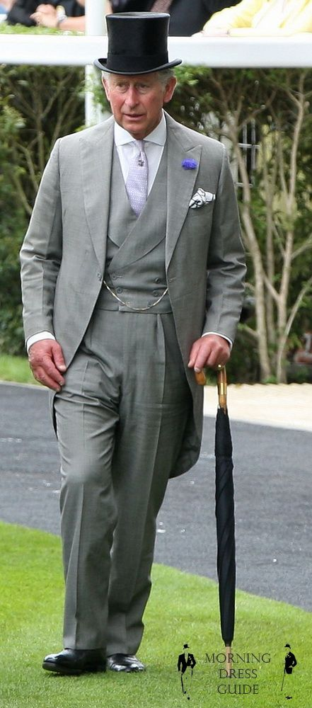 Prince Charles in Mid Grey Morning Suit At Royal Ascot 2012