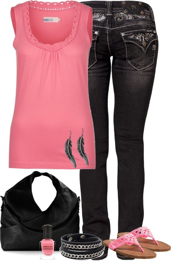 Love the pink top. - 254 Best Hot Pink(ish) & Black(ish) PR Consultant Outfits And