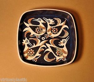"Royal Copenhagen Aluminia Faience Dish Nils Thorson   6.75"" x 6.75"" x 1.25""h"
