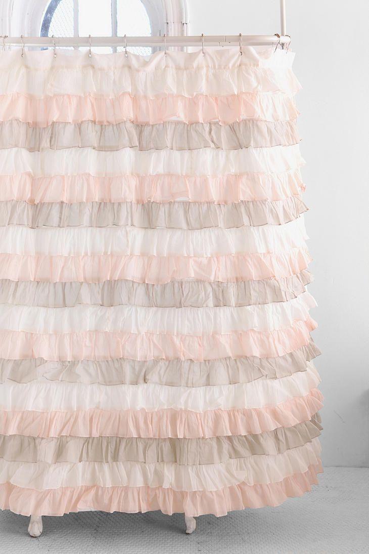 Shower curtains for girls - Neapolitan Ruffles Ruffled Shower Curtainsbathroom