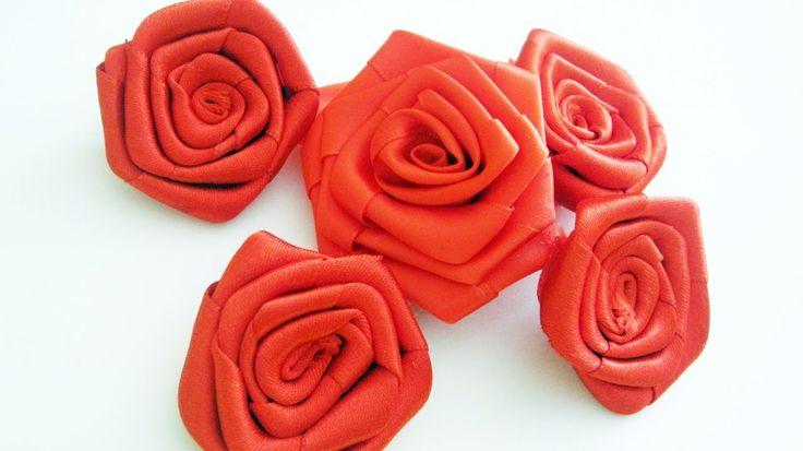 Episodio 700- Cómo hacer rosas grandes con listón  [SALUDOS] - manualida...
