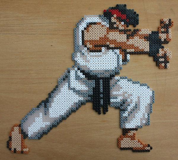 Ryu Hadouken Pose Erler Bead Sprite By