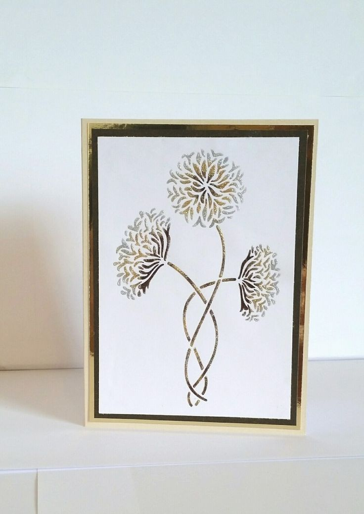 Sweet Poppy Stencils - with gold tone giltters