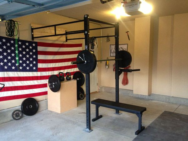 Cool Another American Rogue Garage Gym With Ideas