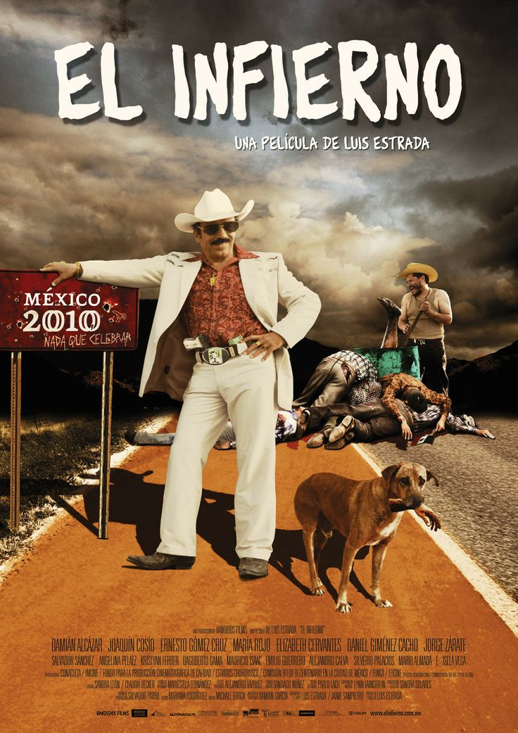 """El Narco (2010) """"El infierno"""" (original title) Benjamín """"Benny"""" García is deported from the United States to his hometown in Mexico (a fictional place named San Miguel Arcángel). Back home is a bleak picture, he can't find an honest job and most of the town is held with the business of drug trafficking. Benny gets involved in the narco business, a """"spectacular"""" job where he gets a lot of money, women and fun. But soon he finds out that the violent criminal life is not easy and much less fun."""