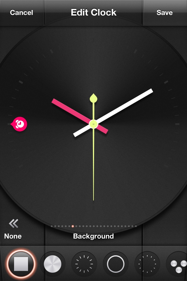 Tik Tok / Clock Personnalisation , pink button to remind the time of alarm setting #iPhone #iOs #Personnalisation