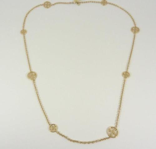 Michael kors necklace 61 pinterest michael kors mkj4479710 gold tone logo monogram disc pendants chain necklace new mozeypictures Choice Image