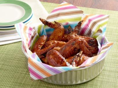 Orange Glazed Chicken Wings  Use method for steaming and then baking for crisp skin