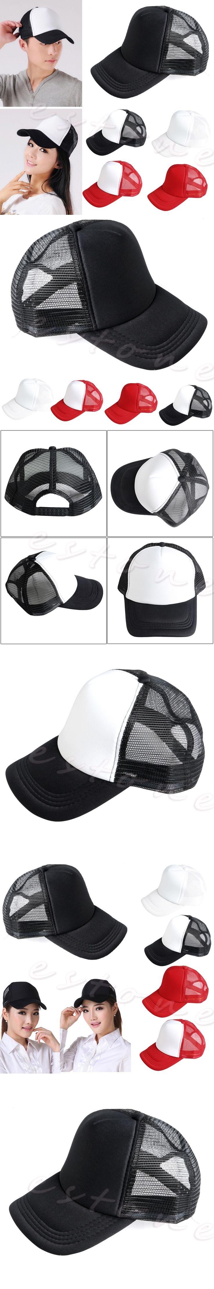Unisex Adjustable Blank Curved Visor Hat Plain Baseball Cap Solid Trucker Patterned Light Board Brisk Breathable Mesh Cap