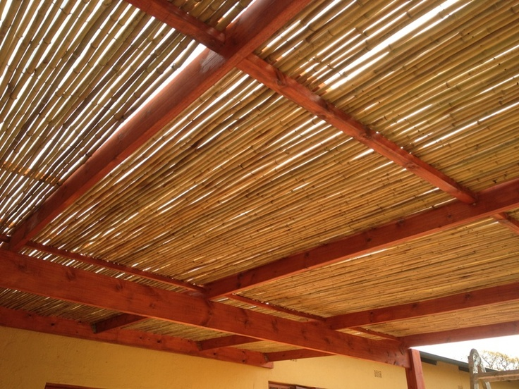 Bamboo supplied in internally wired rolls, installed to allow sufficient light through.