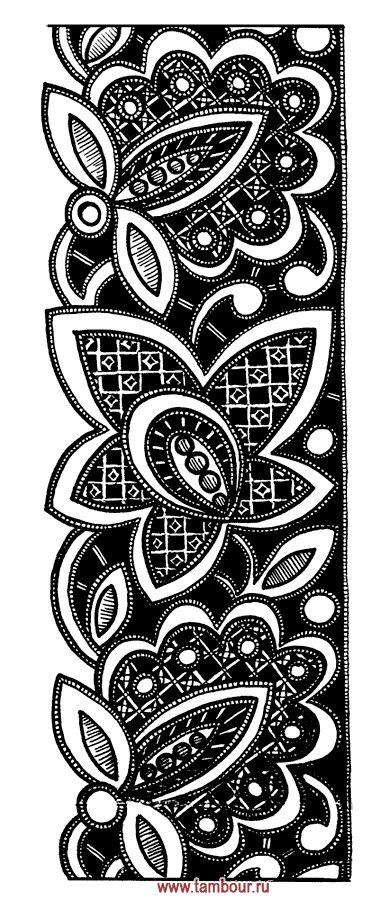 Цветочный узор - www.tambour.ru