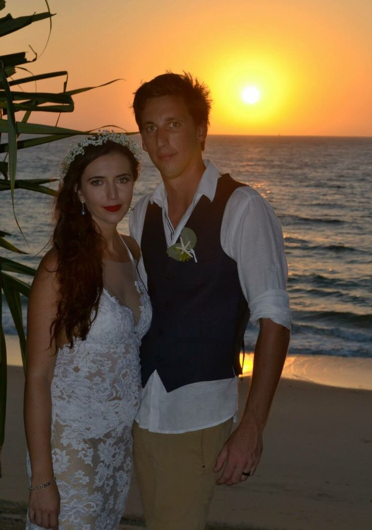 Moreton Island wedding  Dress by// Grace Loves Lace  'Gisele' dress  'Hollie' veil  Identical twin boys  Boho bride  The unique bride