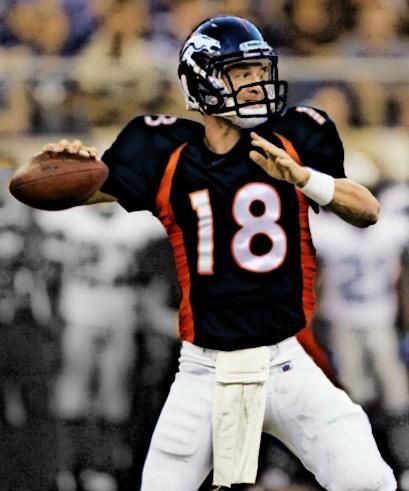 Manning Mania. I want him to play for the Broncos so bad!!! He looks good in blue and orange :)