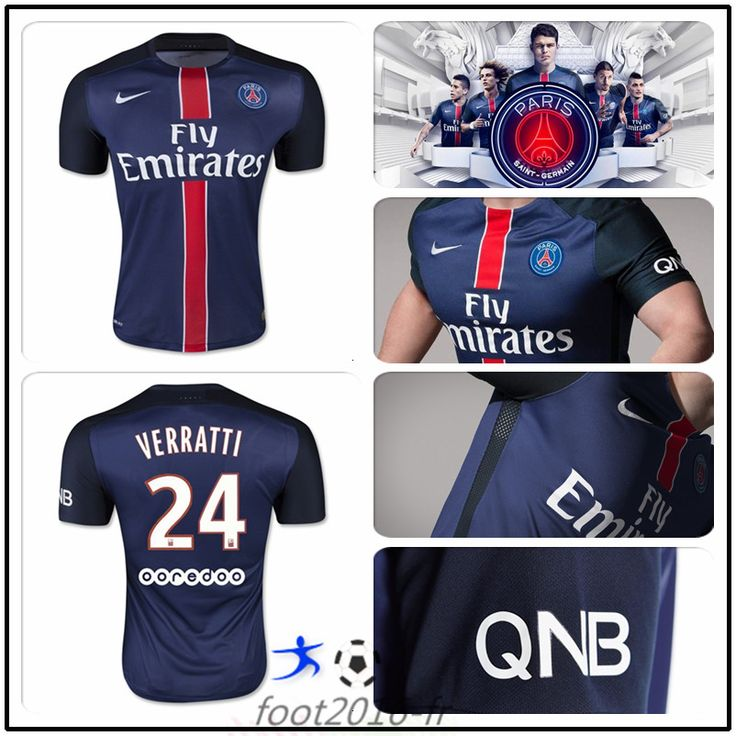 faux maillot foot psg verratti 24 domicile 2015 2016 pas cher prix survetement de foot 2016. Black Bedroom Furniture Sets. Home Design Ideas