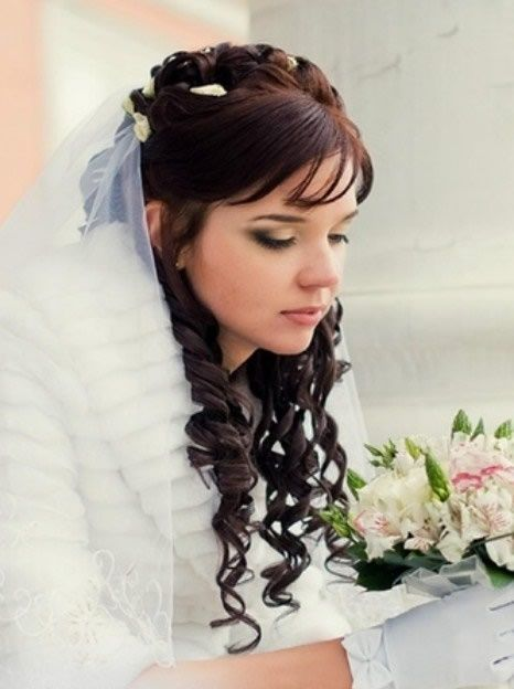 Bridal Hairstyles For Long Curly Hair,wedding bridal hairstyle and makeup