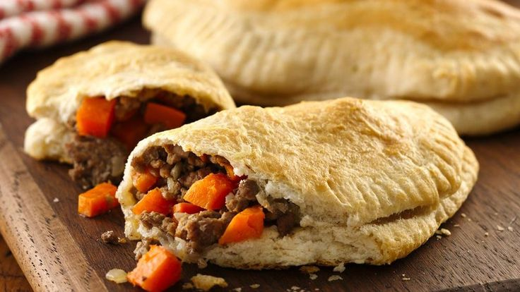 hearty, hand-held pastry filled with meat and potatoes, pasties ...