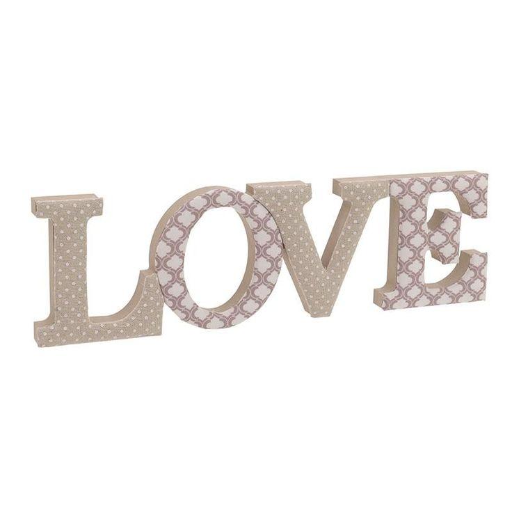 """Διακοσμητικό Ξύλινο/Υφασμάτινο """"Love"""" INART"""