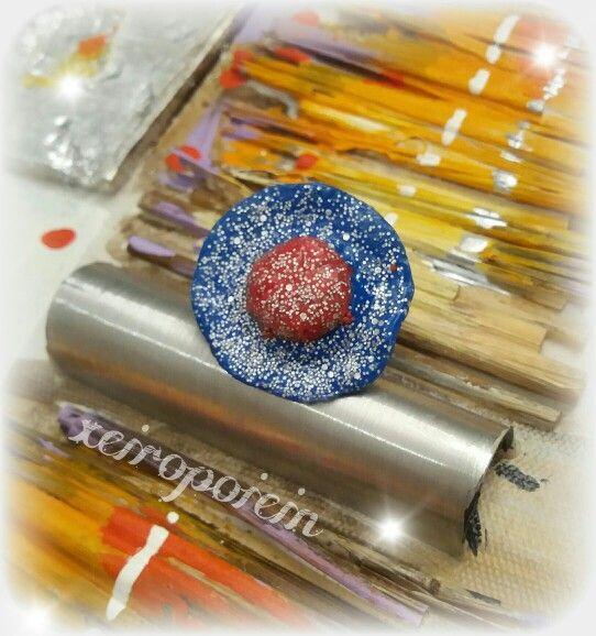 Δαχτυλίδι από πολυμερικό πηλό  Χειροποίητα κοσμήματα