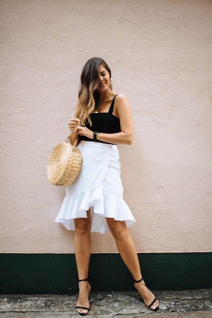 A Pair & A Spare | DIY Ruffle Wrap Skirt
