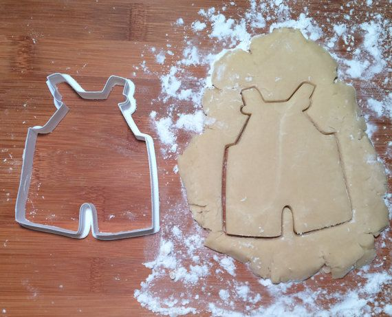Overalls Cookie Cutter / Baby Shower Cookie Cutter by KaleidaCuts