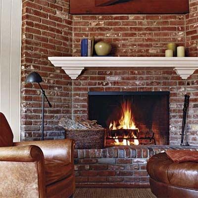 How To Open Up A Cramped Kitchen White Mantel Brick