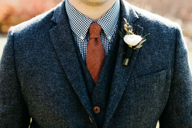 Men's fashion--tweed grooms suit