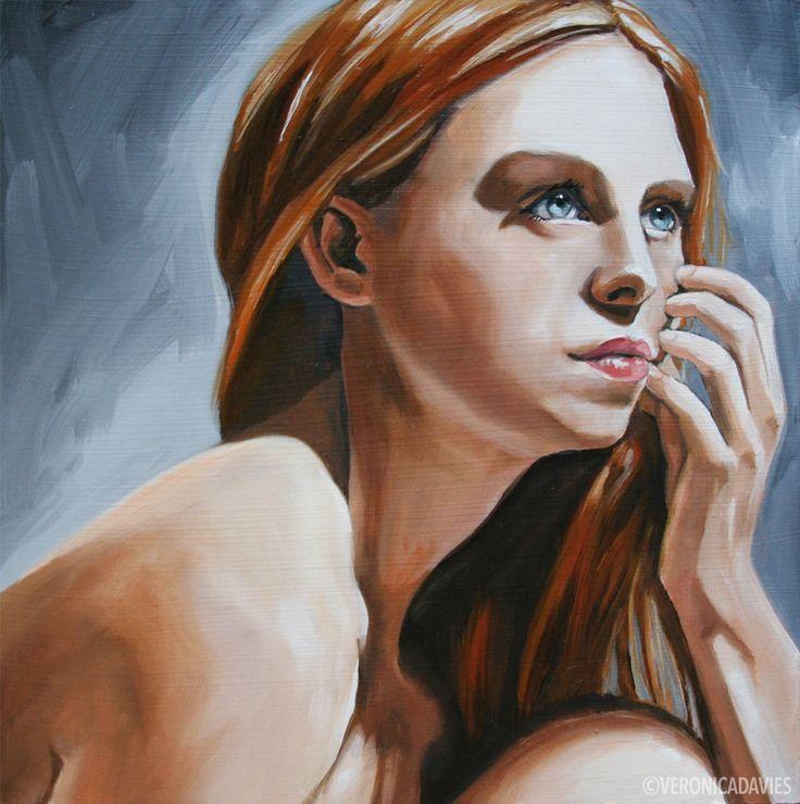 "Portrait Study 1, Oil, 8"" x8"""