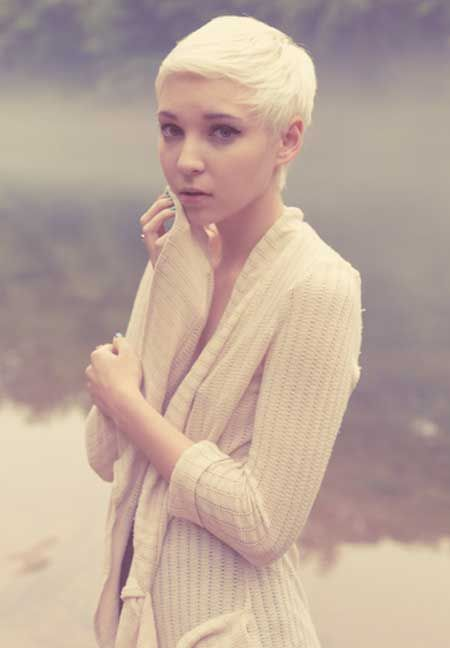 Short Blonde Hair Pixie Cut Hair Style Pinterest