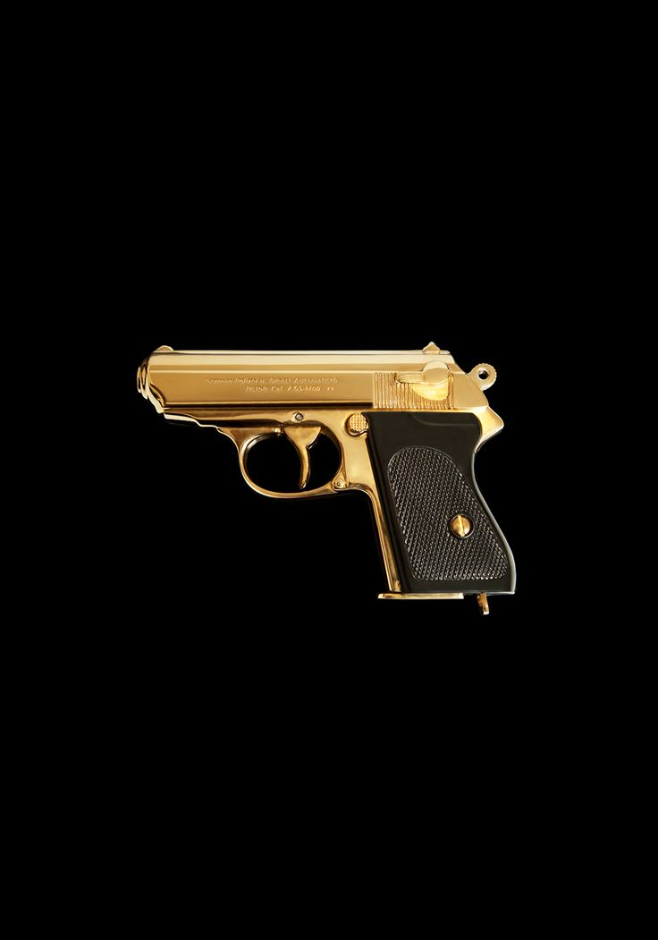 James Bond Limited Edition Walther PPK Gun A beautiful and elegant statement piece created by our in house artisans to commemorate James Bond. A collector's edition carefully adorned in gold and available with custom engraving.