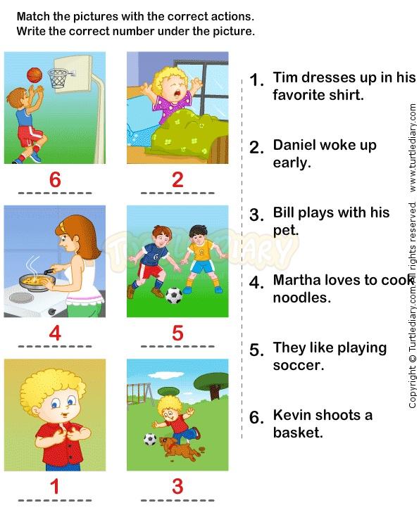 19 best Verb Worksheets images on Pinterest | Action verbs, Kid ...