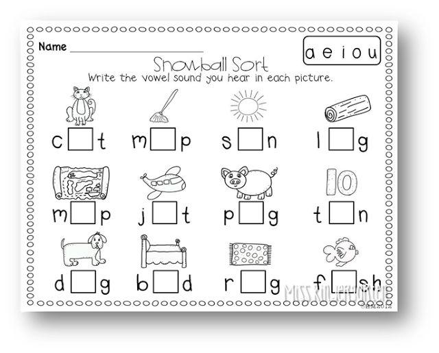 Miss Kindergarten: January Centers {literacy}