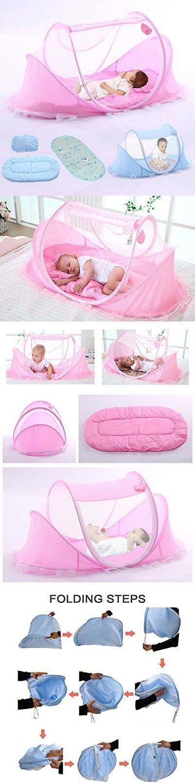 Canopies and Netting 180905: Youdirect Baby Travel Bed Foldable Zippered Mosquito Net Soft Crib Portable Camp -> BUY IT NOW ONLY: $46.89 on eBay!