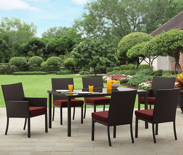 Better Homes and Gardens Rush Valley 7 Piece Patio Dining Set  Seats 6. 212 best Outdoor Living images on Pinterest