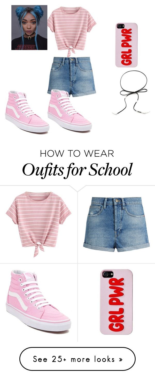 """""""my middle school style"""" by unicorntori1 on Polyvore featuring Raey and Vans"""