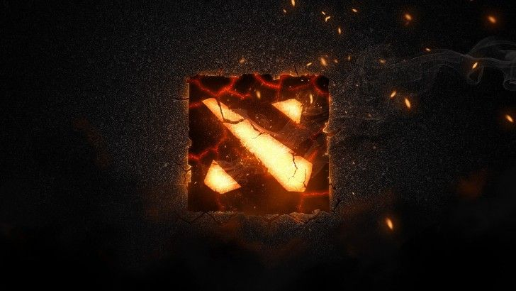 Dota 2 Epic Logo Flaming 1920x1080