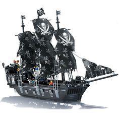 Black Pearl pirate ship (LEGO compatible)