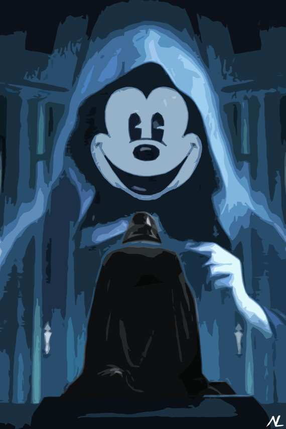 Star Wars Disney Darth Mickey Pop Art Poster 11 X 17 By