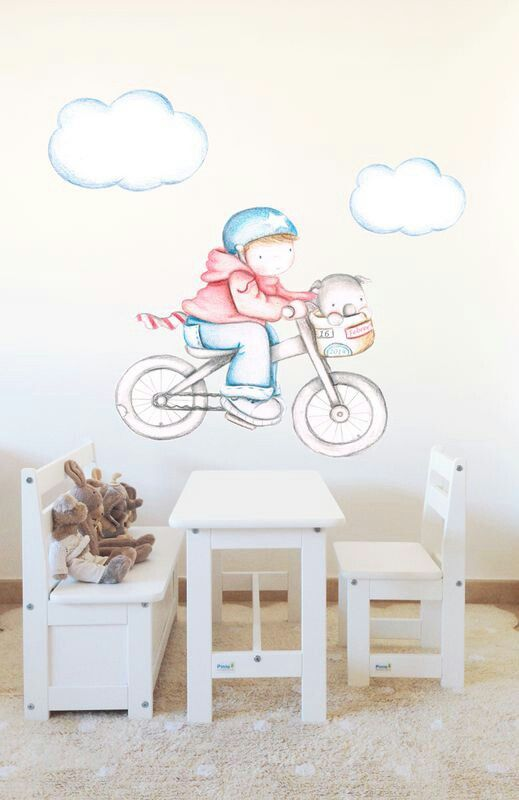 Decoraci n infantil il mondo di alex vinilos stickers for Stickers habitacion nina