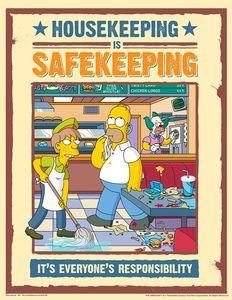 Housekeeping Safety Posters - Simpsons Housekeeping Is Safekeeping S1145
