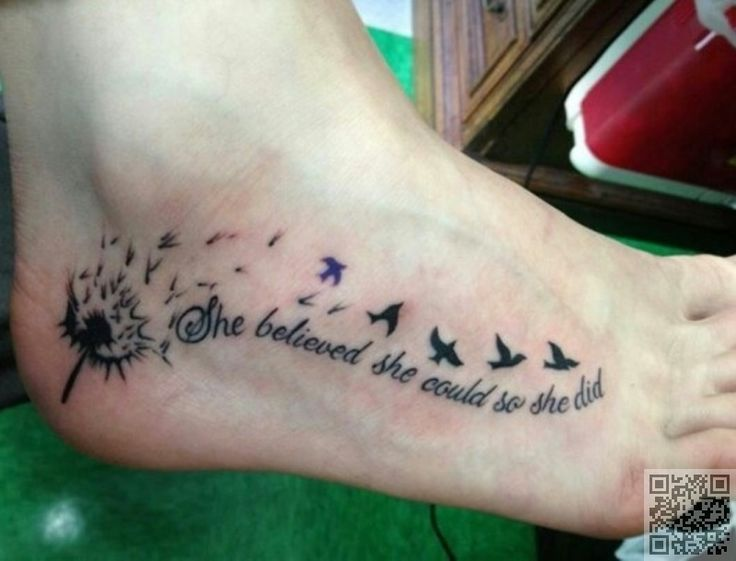 12. On Your Foot - Make a Wish with #These Gorgeous Dandelion #Tattoos ... → #Beauty #Dandelion